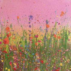 The Sky Is Full Of Kisses And Roses Mid-size Original Artwork - Yvonne Coomber