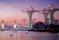 MARVELING AT THESE!!!!: Futuristic Flower Towers Soar Above Modern Metropolises: City in the Sky by Hrama