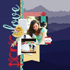 Digital Scrapbook Template - Bold and Beautiful | Scrapping with Liz