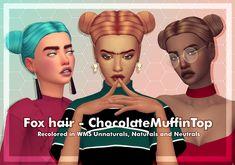 CHOCOLATEMUFFINTOP FOX HAIR RECOLOR [#ts4_adult_hair]