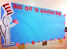 Hats Off To Valentine's Day! Seuss Valentine's Day Board day bulletin board elementary Hats Off To Valentine's Day! Cupcake Bulletin Boards, Valentines Day Bulletin Board, Bulletin Board Design, Parent Volunteers, Classroom Themes, Toddler Crafts, Elementary Schools, Board Ideas, School Stuff
