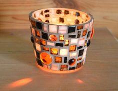 Windlicht Bernsteineffekt 65 mm von Mosaikkasten  Dekoration für Haus und Garten auf DaWanda.com