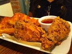 Friedman's Restaurant in nyc. Where you can get gluten free fried chicken