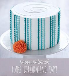 Do You Know What Today Is? Happy National Cake Decorating Day!!!   #happy #nationalholiday #cake #cakedecorating #creativity #elegance #foodart #wilton #incredibleEdibles #BlackRosePastries