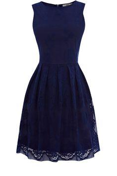 Navy lace dress. Pretty. by kathryn.robertson.7