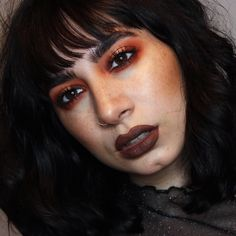 Last one of this Grungy halo eye inspired by 🖤✨// I have so many more looks planned to share with you guys! Guys Makeup, Brown Lip, Septum Ring, Halo, How To Plan, Inspired, Eyes, Wedding Ideas, Inspiration
