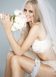 """The """"Pierce"""" garter by La Gartier Wedding Garters. Now available for purchase on the website at www.lagartier.com"""