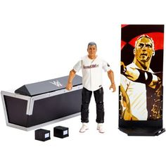 Recreate your favourite WWE matches in Superstar scale WWE Action figures are approximately tall in height Deluxe articulation, incredible detail, authentic ring attire and accessories Diy Wwe, Figuras Wwe, Authentic Costumes, Shane Mcmahon, Wwe Toys, Wwe Action Figures, Wwe Elite, Cycling Art, Bicycle Design