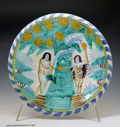 Early English Delftware blue dash charger
