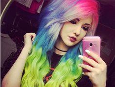 farebne vlasy - Hľadať Googlom