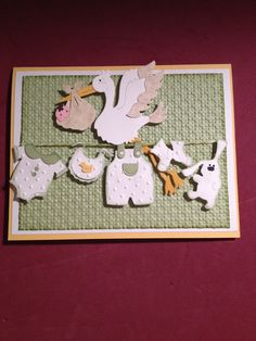 Baby card using cottage cutz dies and Stampin up papers and inks.