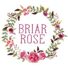 Wreath Logo Design, Watercolor Wreath, Floral Wreath, Rose Logo, Floral Logo…