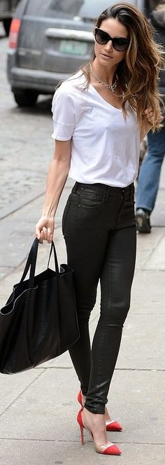 Lily Aldridge. Love everything about this outfit!