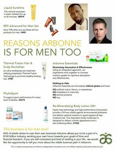 Reasons Arbonne is for Men too