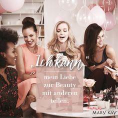 Bevor du dein eigenes Mary Kay® Geschäft startest, kannst du als #Gastgeberin eine #Party für deine #Mädels und dich ausmachen. Probiert gemeinsam tolle Beauty-Produkte, habt #Spaß & genießt einen unvergesslichen Abend. #MaryKayDeutschland