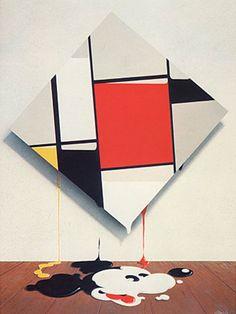 Mickey Mondrian by Mick Haggerty, 1976