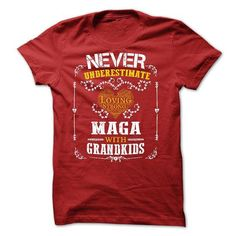 Never Underestimate - Maga with grandkids - #gift tags #bestfriend gift. HURRY => https://www.sunfrog.com/Funny/Never-Underestimate--Maga-with-grandkids.html?68278