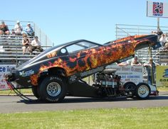 """""""Hell On Wheels"""" Mustang dragster wrap by WrapJax.com"""