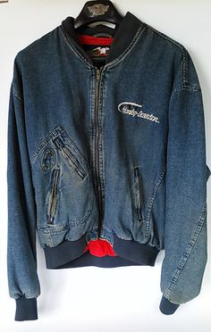 Check out this item in my Etsy shop https://www.etsy.com/listing/241470396/harley-v-twin-mens-denim-jacket-xl