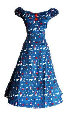 So cute! - Vintage Inspired Pin Up/50s Style Little Red Riding Hood Print Swing Dress from myvintage.co.uk AMAZING!