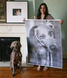 How to make giant art prints from photographs for $11 or under!