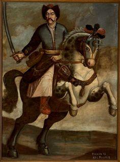 unknown Polish painter, Portrait of Polish king John III Sobieski, oil on canvas, 2nd half of the XVII century