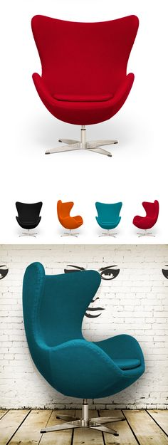 Arne Egg Chair Inspired by Arne Jacobsen ($675).