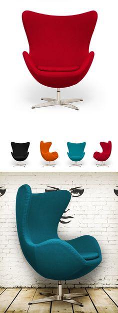 Arne Egg Chair Inspired by Arne Jacobsen ($675).