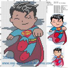 Superman patrón punto de cruz
