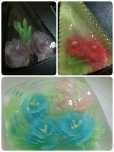 Flower jelly art. Practice makes better.