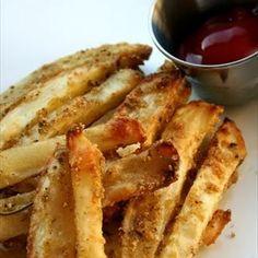 Parmesan Seasoned Fries @keyingredient #cheese