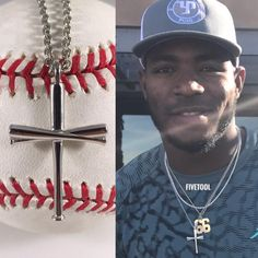 Get the #original #baseball #bat #cross worn by all the #MLB #players! #14kgold  #pro
