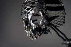 scrap metal skull