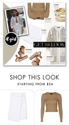 """""""Get The Look: Miroslava Duma #3"""" by fran-tasy ❤ liked on Polyvore featuring Michael Kors, Sportmax, Tory Burch, Topshop, Charlotte Chesnais, BoConcept, GetTheLook, StreetStyle and miraduma"""