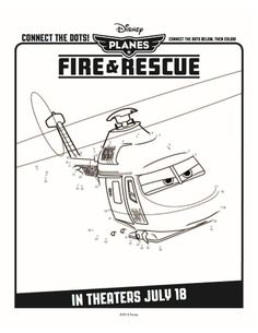 Free Disney Planes Fire & Rescue Printable Connect the Dots