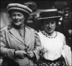 March 8: On this date in 1911, International Women's Day was launched in Copenhagen, Denmark, by Clara Zetkin, leader of the Women's Office for the Social Democratic Party in Germany. Zetkin appears with Rosa Luxemburg in this image. Read more about Zetkin at the clickthrough!
