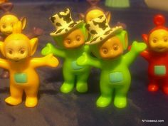 LOT OF 7 TELETUBBY HASBRO FIGURINES FREE SHIPPING