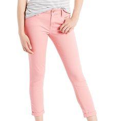Women's Levi's® MidRise Crop Skinny Jeans, Size: 12/31, Orange Oth