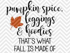 Pumpkins, leaves leggings and hoodies...