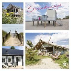 Strandhuisjes en vakantiehuisjes bij het strand http://bijzondere-adresjes.nl/strand