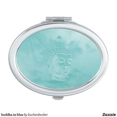 buddha in blue compact mirrors