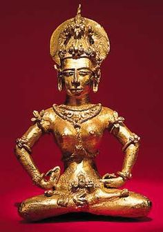 The gold figurine is correctly identified, not as Tara, but as Vajralāsyā (Tibetan: rDo-rje sgeg-mo), one of four celestial deities who make offerings to the Buddha Vairocana from one corner of a divine mandala; there are 16 such deities altogether. She is also known as the bodhisattva of the amorous dance. She is identified by the manner she puts her hands on her hips. The figurine was created by local artisans in the gold-rich area of Agusan at least 100 yrs earlier than the next gold…