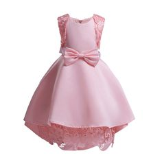 be2914bbf Baby Girl Princess Ball Gown Dress 3 -10 Years Kids Lace Silk Satin  Birthday Wedding