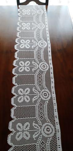 Filet Crochet, Curtains, Model, Crochet Curtain Pattern, Crochet Curtains, Groomsmen, Table Runners, Tejidos, Insulated Curtains