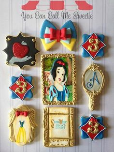 Snow White 3rd Birthday Cookies made by You Can Call Me Sweetie