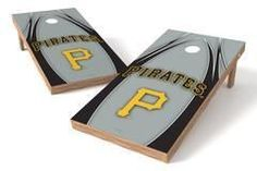 Pittsburgh Pirates Single Cornhole Board - The Edge