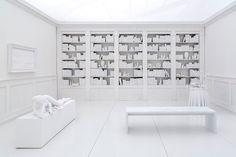 Hans Op de Beeck (1969- ), Belgian / The Silent Library, 2016 ... sculptural art installation/sculpture, at