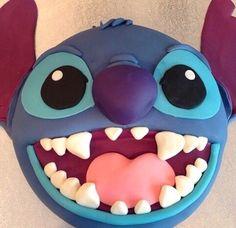lilo and stitch cake Lilo And Stitch Cake, Lilo Und Stitch, Cute Cakes, Pretty Cakes, Fondant Cakes, Cupcake Cakes, Kid Cakes, Stitch Disney, Ideas Para Fiestas