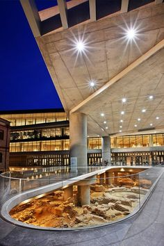 entrance of the new Acropolis museum, Athens, Greece
