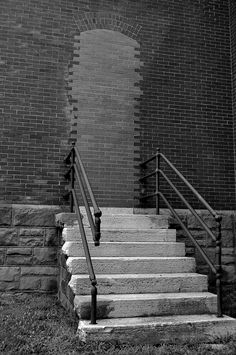 Stairway To Nowhere., via Flickr. Stay Out. Abandoned Military Base. Fort Hayes. Columbus, OH